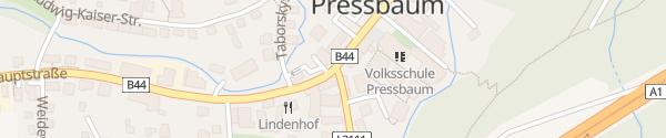 Karte Raiffeisenbank Wienerwald Pressbaum