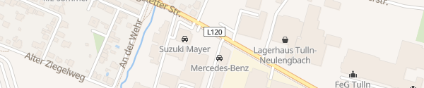 Karte Mercedes Autohaus Hummel Tulln an der Donau