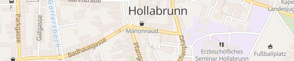 Karte Rathaus Hollabrunn
