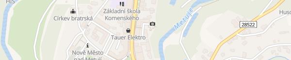 Karte Hotel Rajská zahrada Nové Město nad Metují