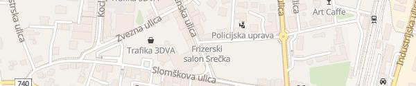 Karte Ulica arhitekta Novaka Murska Sobota