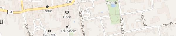 Karte Parkhaus Veranstaltungszentrum Z2000 Stockerau