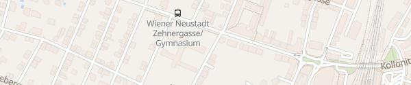 Karte Bundesgymnasium Wiener Neustadt