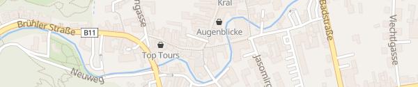 Karte E-Bike-Station Fußgängerzone Mödling