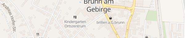 Karte Parkplatz Ortsmitte Brunn am Gebirge