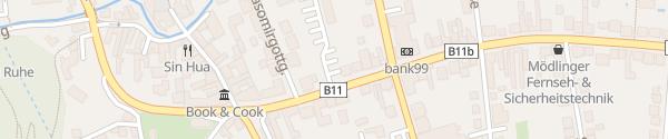 Karte Babenberger-Parkplatz Mödling