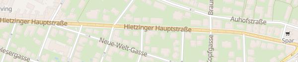 Karte City - Hietzinger Hauptstraße Wien