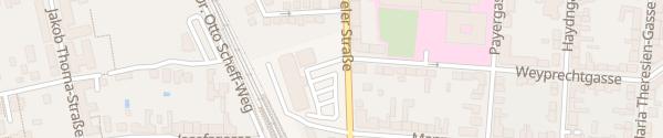 Karte Krankenhaus Mödling