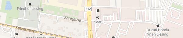 Karte Porsche Zentrum Wien-Liesing Wien