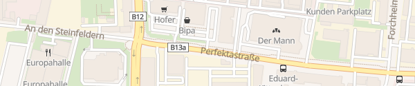 Karte City - Billa Perfektastraße Wien
