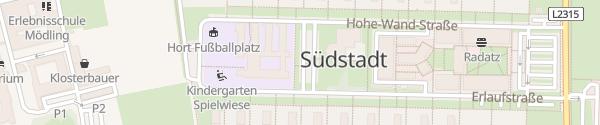 Karte Volksschule Südstadt Maria Enzersdorf
