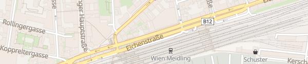 Karte City - Bahnhof Meidling Wien