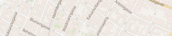 Karte City - Dornerplatz Wien