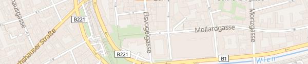 Karte City - Mollardgasse Wien