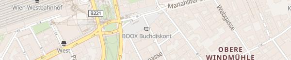 Karte APCOA-Parkhaus Wien