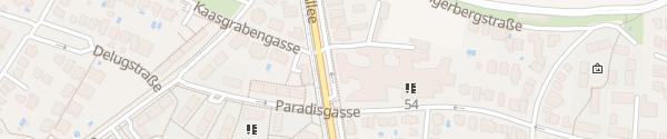 Karte City - Grinzinger Allee Wien