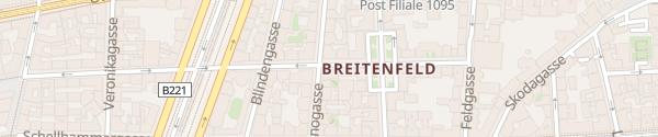 Karte City - Breitenfeldergasse Wien