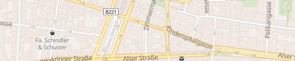 Karte City - Zimmermanngasse Wien