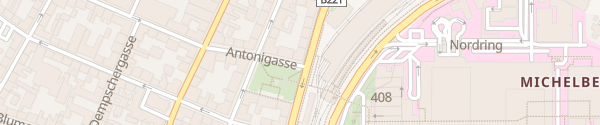 Karte City - Antonigasse Wien