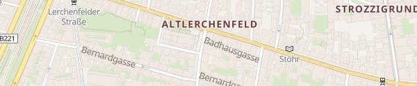 Karte City - Badhausgasse Wien