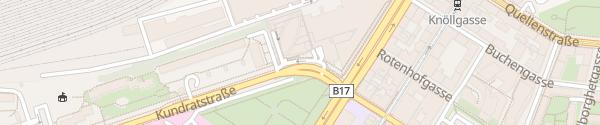 Karte City - Kundratstraße Wien