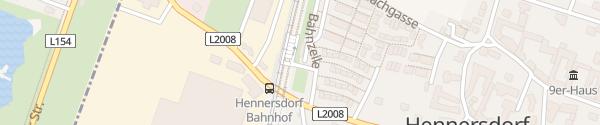 Karte P+R Garage Bahnhof Hennersdorf
