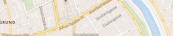 Karte City - Julius-Tandler-Platz Wien
