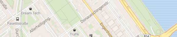 Karte City - Donaueschingenstraße Wien