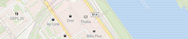 Karte Millenium City Parkgarage P1 Wien