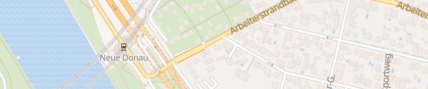 Karte City - Arbeiterstrandbadstraße Wien