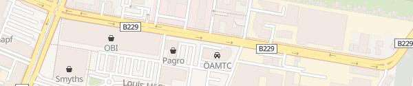 Karte ÖAMTC Stützpunkt Floridsdorf Wien