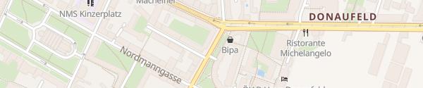 Karte City - Fultonstraße Wien