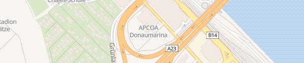 Karte Parkhaus Donaumarina Wien