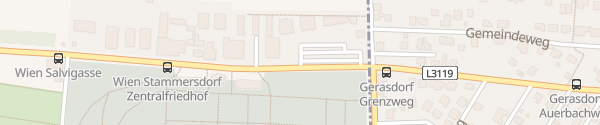 Karte City - Stammersdorfer Friedhof Wien