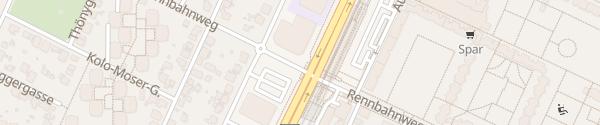 Karte City - U1 Rennbahnweg Wien