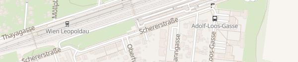 Karte City - Schererstraße Wien
