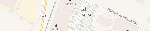 Karte G3 Shopping Resort - Eingang C Gerasdorf bei Wien