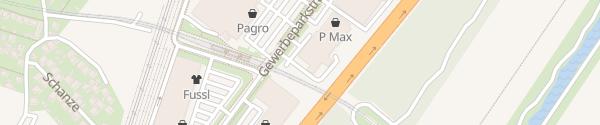 Karte Renault Donaustadt - Gewerbepark Stadlau Wien