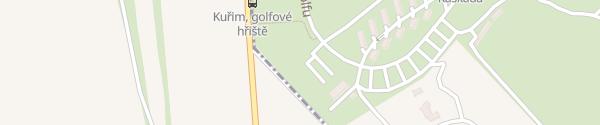 Karte Golfplatz Jinačovice Kuřim