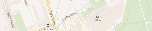 Karte Tepláreň Brno-Královo Pole