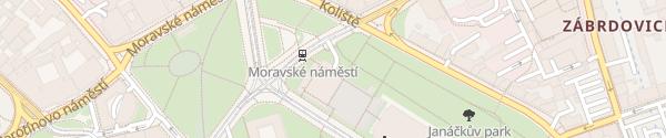 Karte JD Parking Brno