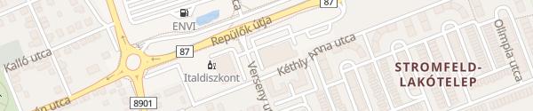 Karte Lidl Verseny utca Szombathely