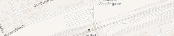 Karte P&R-Parkplatz Bahnhof Strasshof an der Nordbahn