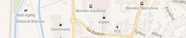 Karte OC Kaufland Blansko