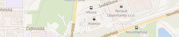 Karte Billa Brno-Líšeň