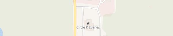 Karte Circle K Evenes