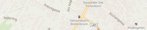 Karte Kirschblütenhalle Breitenbrunn