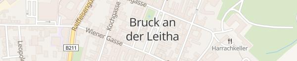 Karte Hauptplatz Bruck an der Leitha