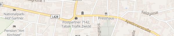 Karte Hotel Post Illmitz
