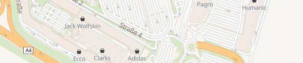 Karte Outlet Center Parndorf